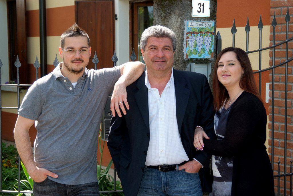 Da sinistra Andrea, Loris e Alice Biatta