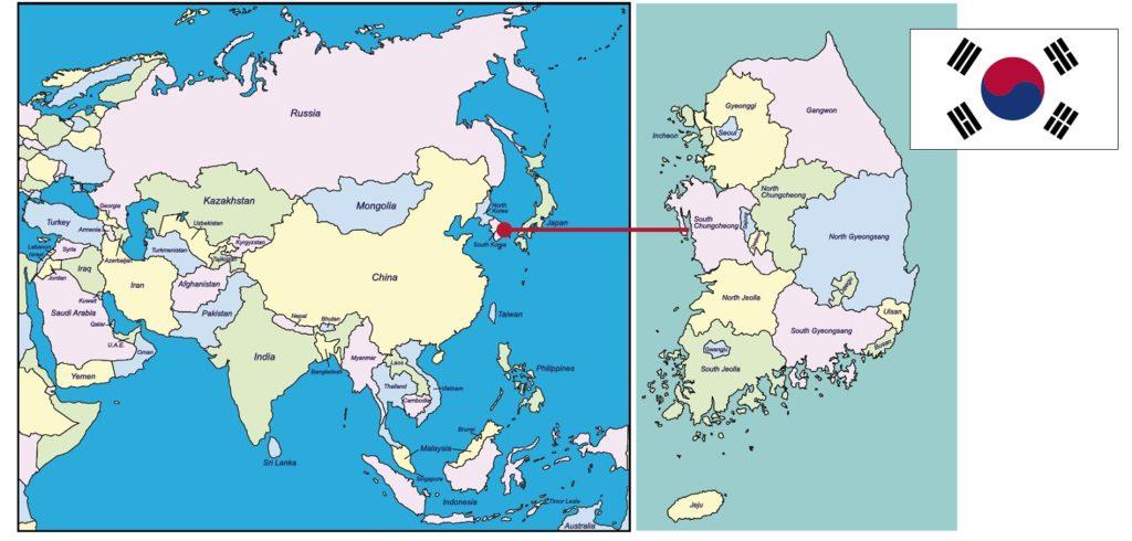 mappa Corea