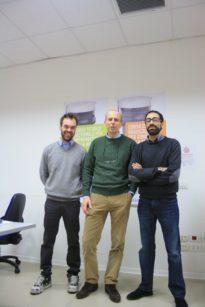 Stefano Buiatti al centro con due suoi collaboratori