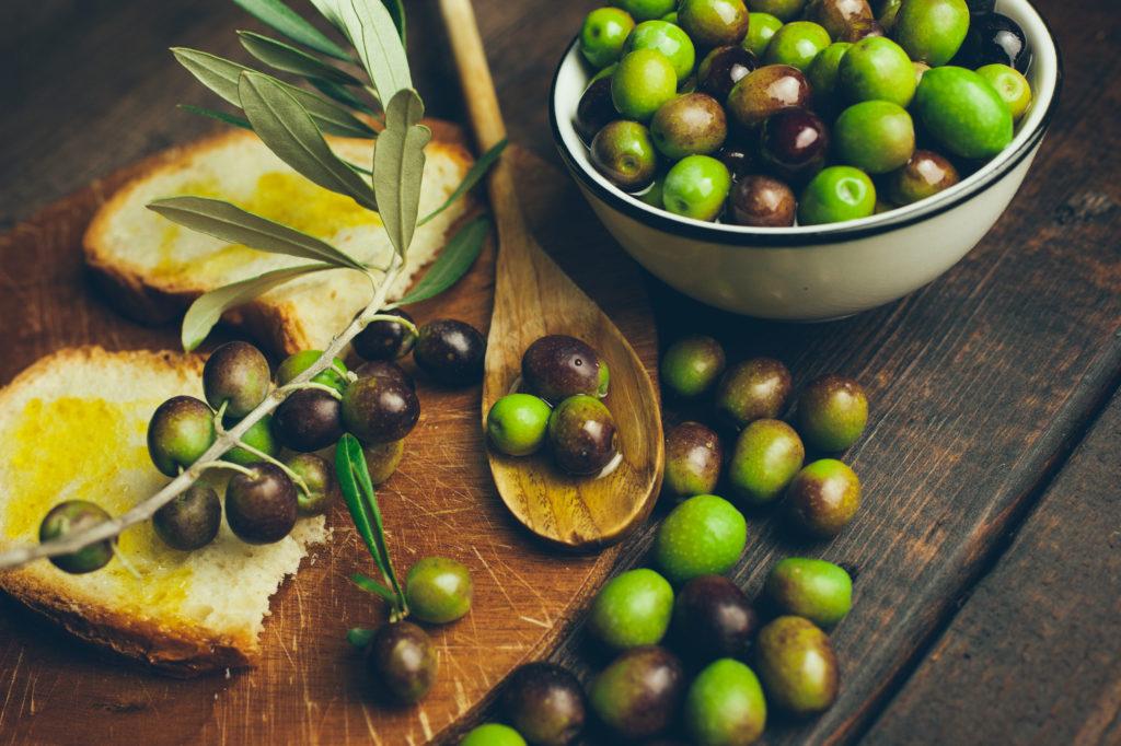 pane olio e olive