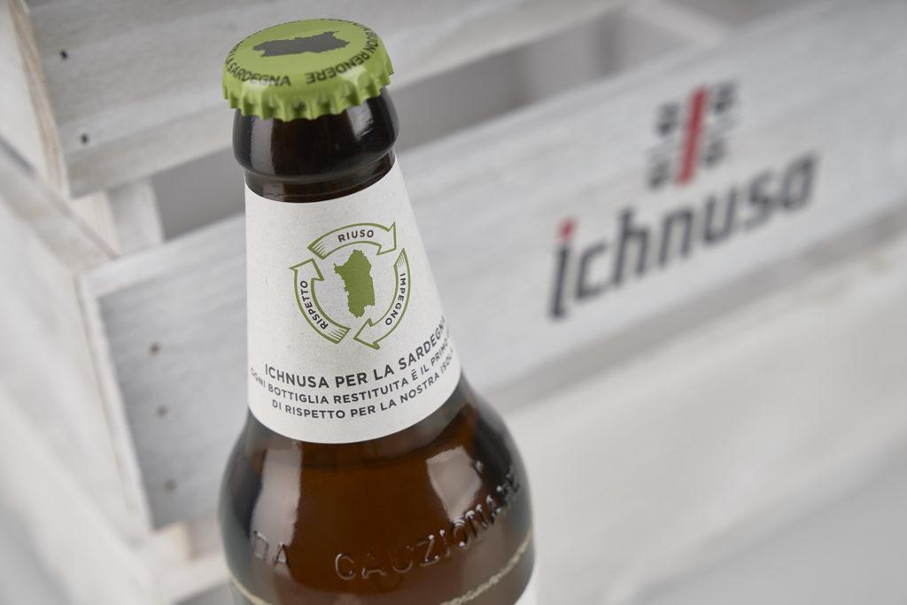 Ichnusa bottiglia tappo verde