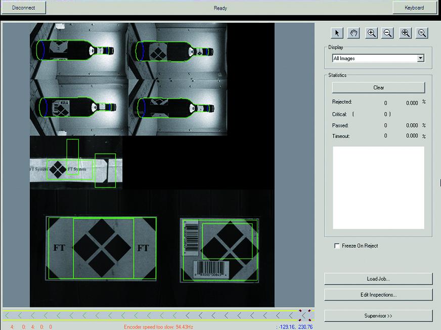 Il risultato dell'unione delle 4 immagini un perfetto sviluppo dell'aspetto della bottiglia sui suoi 360°