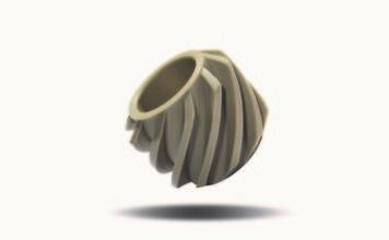 Geartec: particolare in PEEK usato per linee di imbottigliamento