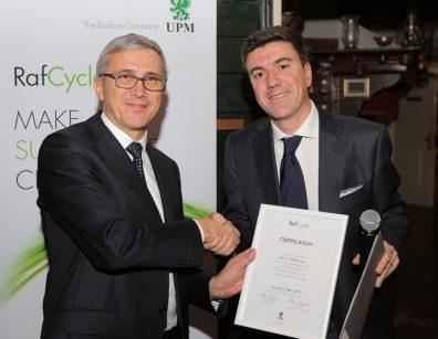 Stefano Pistoni di UPM Raflatac (a destra) e Luca Cielo di Cielo e Terra