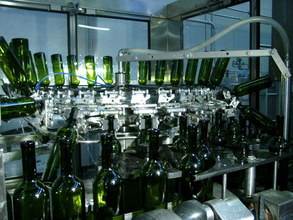 bottiglie tappo raso - lavaggio bottiglie