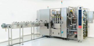 La MASTER C BLOCK: un sistema automatico di riempimento e aggraffatura caratterizzato da tecnologia a flussimetri con elevata precisione di riempimento e con regolazione centralizzata