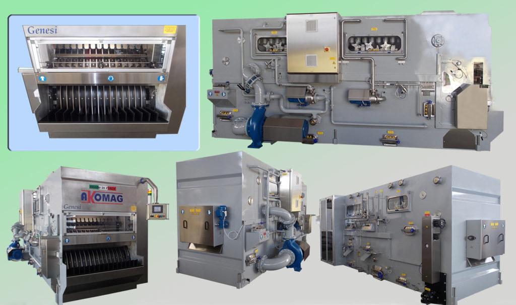 Alcune lavabottiglie della serie Genesi in grado di coprire ogni fascia operativa, dalle 500 alle 60.000 bottiglie ora