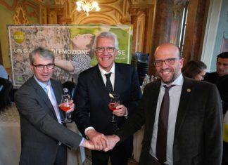 Alberto Frausin con il Sindaco di Varese e il Sindaco di Induno